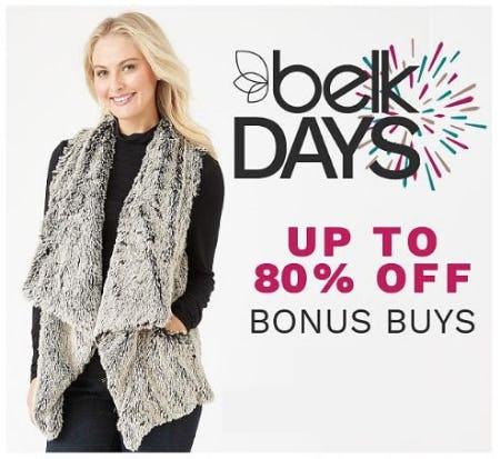 Up to 80% Off Bonus Buys from Belk