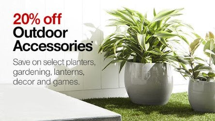 20% Off Outdoor Accessories from Crate & Barrel