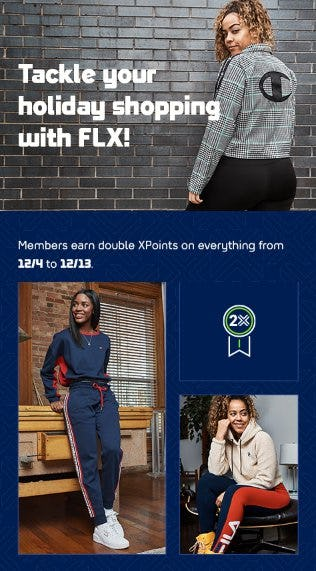 Members Earn Double XPoints on Everything from Lady Foot Locker