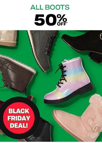 All Boots 50% Off from The Children's Place