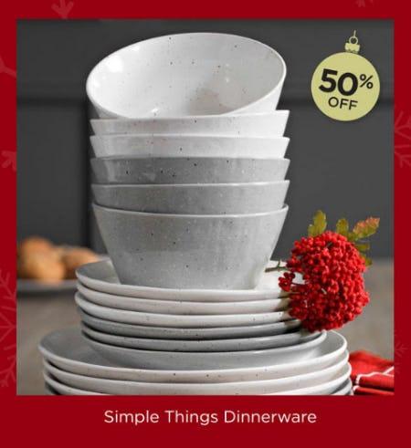 50% Off Simple Things Dinnerware from Kirkland's