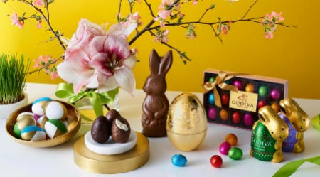 GODIVA Easter Eggs and Bunnies from Godiva Chocolatier