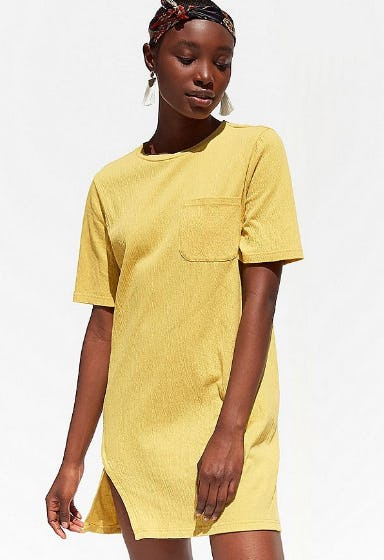 Minkpink Textured T-Shirt Dress from Urban Outfitters