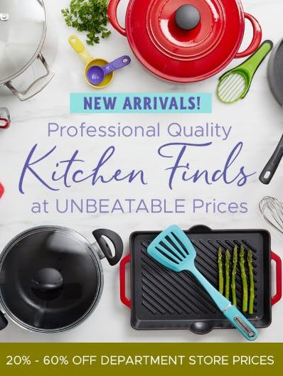20-60% Off on Professional Quality Kitchen Finds from Tuesday Morning