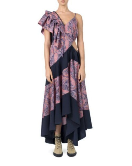 Loewe Paisley-Print Ruffle Dress from Saks Fifth Avenue
