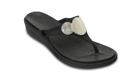Women's Sanrah Embellished Wedge Flip from Crocs