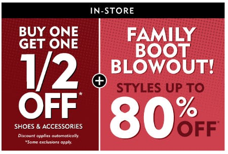 BOGO 1/2 Off Shoes & Accessories plus More
