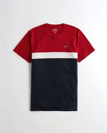 Colorblock Crewneck T-Shirt from Hollister Co.