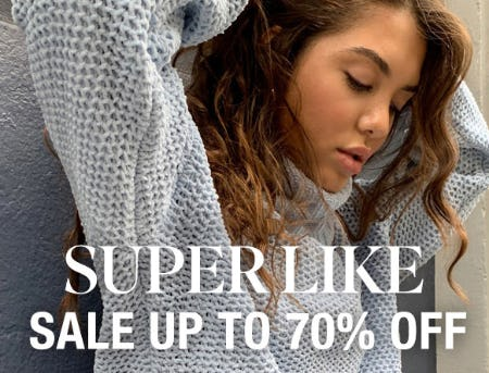 Super Like Sale up to 70% Off