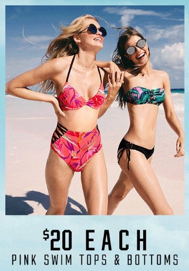 $20 Each PINK Swim Tops & Bottoms from Victoria's Secret