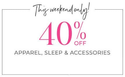40% Off Apparel, Sleep & Accessories from Lane Bryant