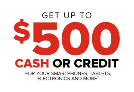 Up to $500 Cash or Credit from GameStop