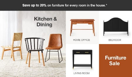 Up to 20% Off Furniture Sale from Target