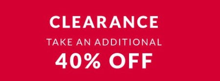 Take an Additional 40% Off Clearance