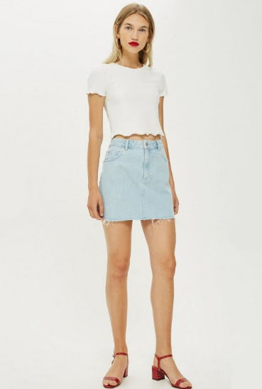 Bleach Denim Skirt from Topshop