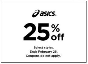 25% Off Asics from Kohl's