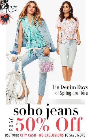Soho Jeans BOGO 50% Off from New York & Company