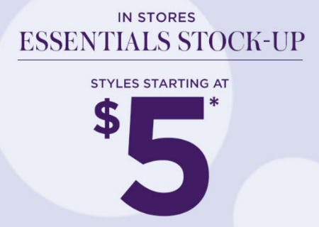 Stock Up & Save on Essentials from $5