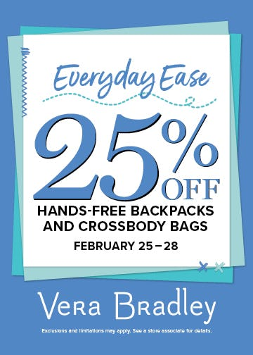 Hands-Free, Care-Free! from Vera Bradley