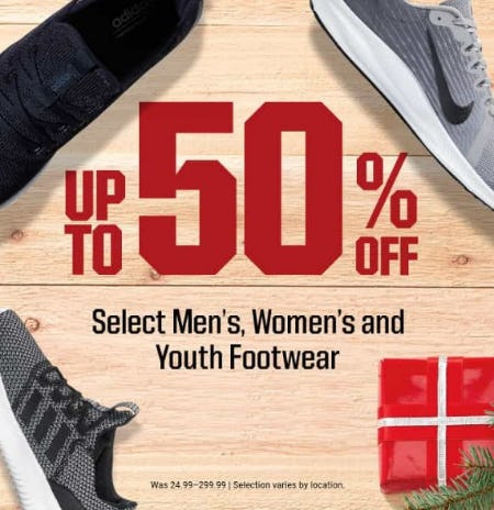 Up to 50% Off Select Men's, Women's and Youth Footwear from Dick's Sporting Goods