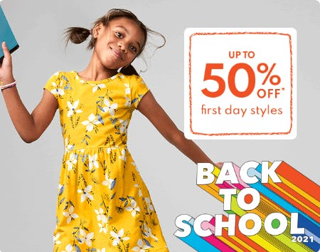 Up to 50% Off First Day Styles from Carter's