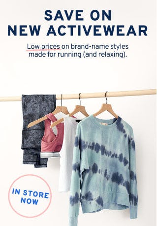 Save on New Activewear from Marshalls