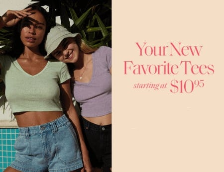 Tees Starting at $10.95 from PacSun