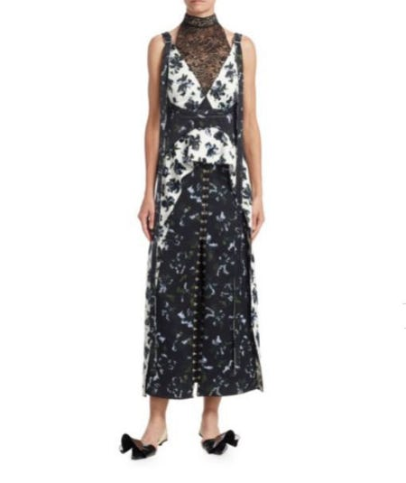Proenza Schouler Floral Lace Peplum Dress from Saks Fifth Avenue