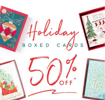 Holiday Boxed Cards 50% Off from PAPYRUS