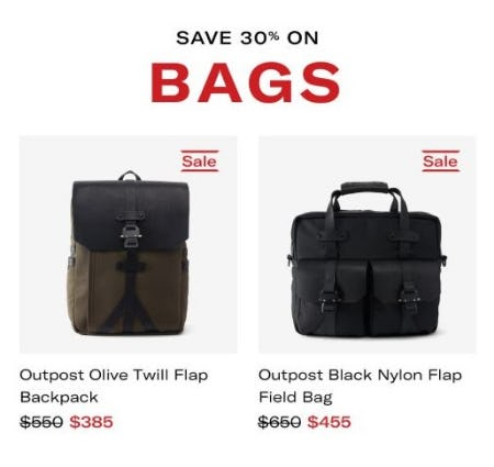 30% Off Bags