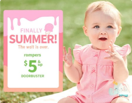 Rompers $5 & Up Doorbuster from Carter's Oshkosh