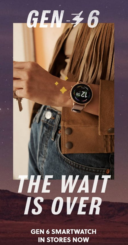 Gen 6 Smartwatch in Stores Now from Fossil