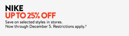 Nike Up to 25% Off from Nordstrom