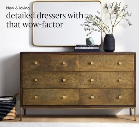 New Beautifully Detailed Bedroom Furniture from West Elm
