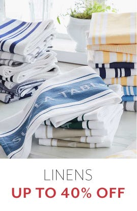 Up to 40% Off Linens from Sur La Table