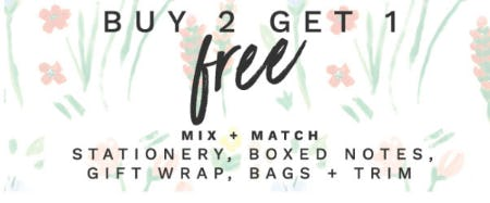 B2G1 Free Stationery, Wrap & More from PAPYRUS