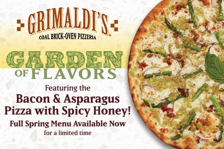 Garden of Flavors Seasonal Menu from Grimaldi's Coal Brick Oven Pizzeria