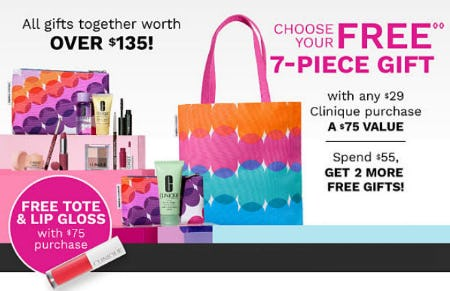 Free Gift with $29 Clinique Purchase from Belk