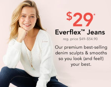 $29 Everflex Jeans from maurices