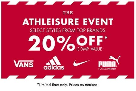 The Athleisure Event 20% Off from DSW Shoes