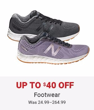 Up to $40 Off Footwear