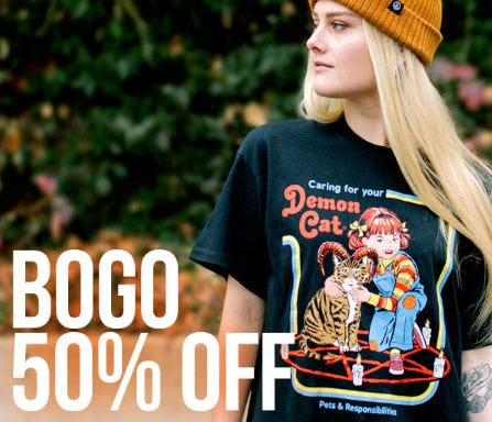 BOGO 50% Off Tees from Spencer's Workshop
