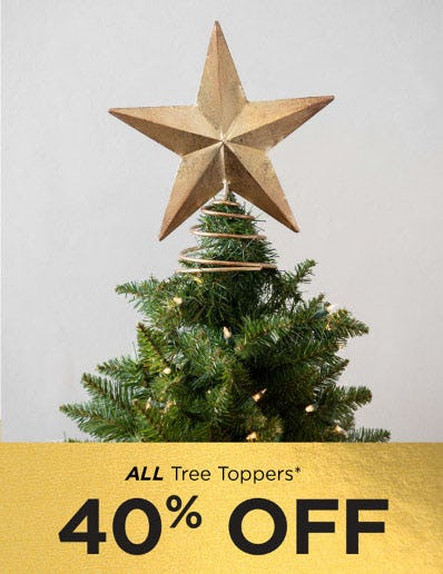 40% Off All Tree Toppers from Kirkland's