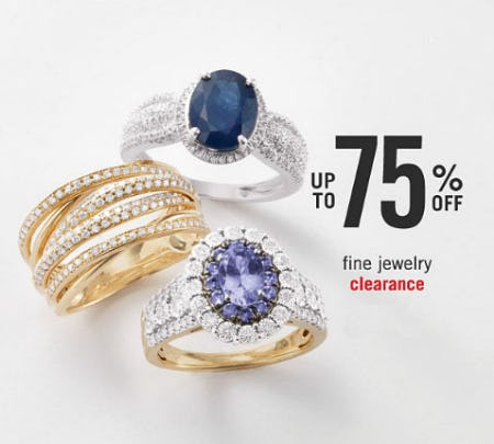 Up to 75% Off Fine Jewelry Clearance