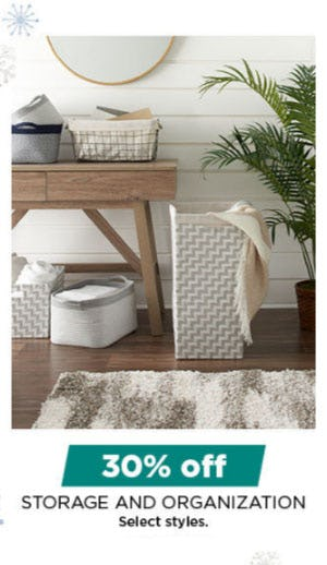 30% Off Storage & Organization from Kohl's