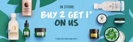 Buy 2 Get 1 On Us from The Body Shop