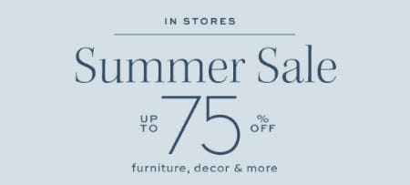 Up to 75% Off Summer Sale from Pottery Barn