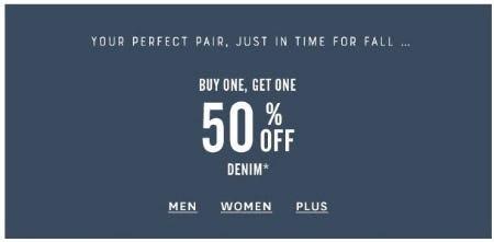 BOGO 50% Off Denim from Lucky Brand Jeans