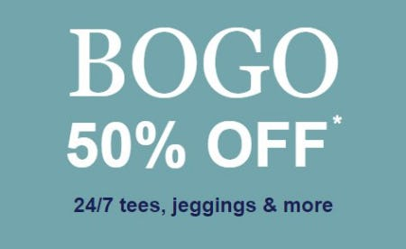 BOGO 50% Off 24/7 Tees, Jeggings & More from maurices