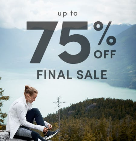 Up to 75% Off Final Sale